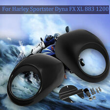 Matte Headlight Mask Front Cowl Cover For Harley Sportster Dyna FX XL 883 1200