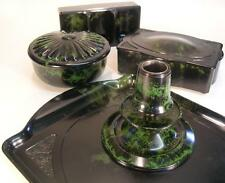 Antique Art Deco Bakelite Dressing Table Set. Linsden Ware. Circa !930. (894)
