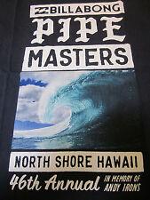 Official Limited Billabong Pipe Masters AI North Shore Hawaii Event Shirt NWT