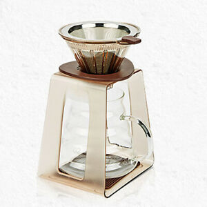 Iced Coffee Dripper Coffee Filter Cold Brew Drip Stainless Steel Stand