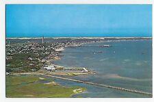 Provincetown Cape Cod MA Mass Aerial View Harbor Pier Dunes Vintage Postcard