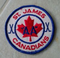 St James Canadians AA Hockey Patch Logo Canada Vintage