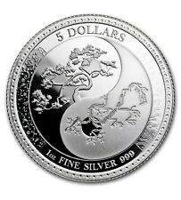 2018 Tokelau Equilibrium Series Yin & Yang 1 oz Silver Proof-Like Capsuled Coin