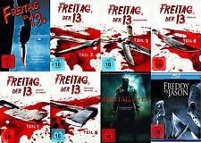 8x Jason  FREITAG DER 13. Teil Collection  REMAKE + FREDDY VS. JASON DVD BLU-RAY