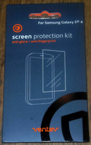 New Ventev For Samsung Galaxy S4 Galaxy Note 3 Screen Protection Kit  2 Pack