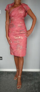 STUNNING JOHN CHARLES CORAL PINK MOTHER OF THE BRIDE OUTFIT SIZE 10
