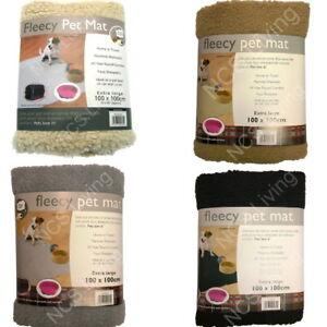 XL Fleecy Soft Faux Sheepskin Puppy Dog Pet Crate Carrier Bed Bedding Mat Throw