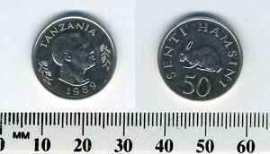 Tanzania 1989 - 50 Senti Nickel Clad Steel Coin - President Mwinyi - Rabbit