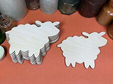 WOODEN SHEEP  Shapes 12.7cm(x10) laser cut wood cutouts crafts blank shape