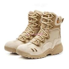 Mens Tactical Desert Casual Combat US Army Shoes Leather Military Lace Up Boot