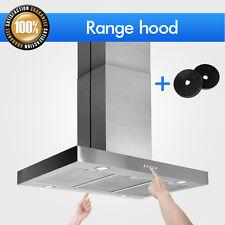"36"" Stainless Steel Stove Dual Control Electronic Mount Island Range Hood Cfm"
