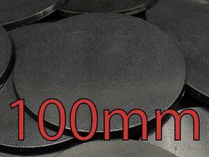 100mm Round Plain Wargame Bases Warhammer AOS Plastic
