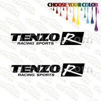 "2 of 8"" Tenzo R aftermarket racing car bumper window vinyl sticker decal die cut"