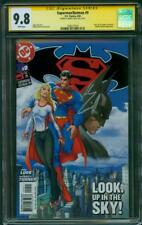 Superman Batman 9 CGC SS 9.8 Henry Cavill Signed Michael Turner 1st Pr Supergirl