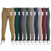 Mens Designer Regular Slim Fit Straight Trousers Cotton Chinos Jeans SNS Apparel