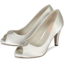 Paradox Satin Peep Toe Bridal Shoes