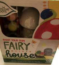 *NEW* Creative Roots Paint Your Own Fairy House 8 Piece Set FREE SHIPPING!