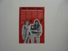Sonny Bono Cher Monkey cutting clipping Sweden Swedish 1970s