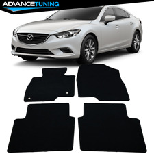 Fits 13-17 Mazda 6 Sedan Floor Mats Carpets Black Nylon 4 Pcs