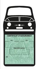Support vignette assurance Fiat 500 étui adhésif voiture Stickers auto rétro
