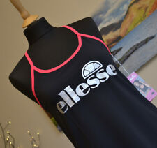 BNWT ELLESSE Lucy Mecklenburgh - Black active wear gym top training Sz Womens XS