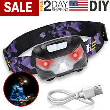 Rechargeable Headlamp Flashlight Head Band Lamp LED Light Outdoor Camping Torch