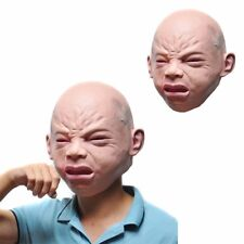 Disgusted Angry Scary Head Mask Cry Baby Mask Face Halloween Costume Cosplay New
