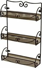 New listing DecoBros 3 Tier Wall Mounted Spice Rack, Bronze