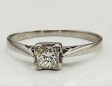 18CT DIAMOND SOLITAIRE RING 0.35CT PRINCESS CUT ENGAGEMENT 18 CARAT WHITE GOLD