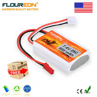 Floureon 2S 7.4V 800mAh 25C Lipo RC Battery JST-XH for RC Helicopter Monster Car