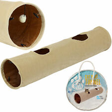 ME & MY LARGE CAT/KITTEN CRINKLY PLAY TUNNEL PUPPY/RABBIT FUN TOY COLLAPSIBLE