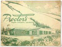 1950's Vintage Big Menu PROCTOR'S Famous Chicken Dinners Idaho Springs Colorado