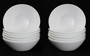 Oval Shaped Prometeo Breakfast/Dessert/Ice Cream Bowls in Brilliant White 12