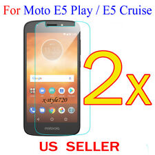 2x Clear LCD Screen Protector Guard Cover For Motorola Moto E5 Play / E5 Cruise