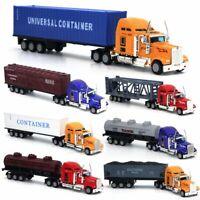 1:64 Alloy American Semi-Trailer Truck Metal Diecast Container Truck Tanker Car
