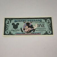 Walt Disney Dollar 1990 Mickey Mouse $1 One D01233285A Bill