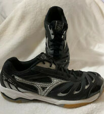 Mizuno, Wave Rally, Womens Size 9, Athletic Volleyball Black Running Shoes