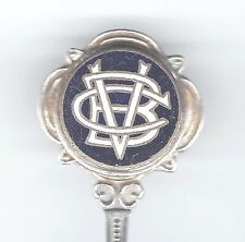 old VICTORIA BOWLING CLUB? epns & enamel teaspoon sold by DUNKLINGS