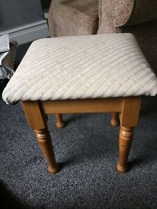 Beautiful Solid Pine Dressing Table Stool in Excellent Condition