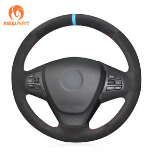 Design Black Soft Suede Steering Wheel Cover for BMW X3 F25 2011-2013 X5 F15