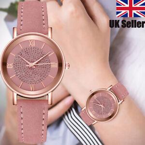 Women Wrist Watches Dress Watch Quartz Analogue Women S Steel Leather Casual New