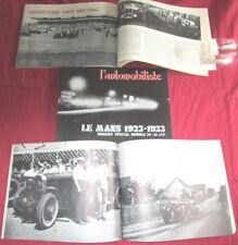 L'automobiliste N°24-25 : les 24H du Mans 1923-1933  ,Silverstone ,Rallye Fiat