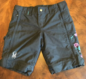SPYDER Ski Shorts ~ Side Zip Off Pants Racing Skiing Bike Training