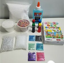 Gel glue & Daiso clay  slime floam making supplies, slushie fishbowl beads, gift