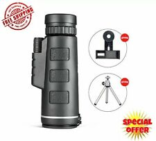 Starscope Monocular 40x60 Night Day Vision Zoom Scope Pocket with Phone Holder