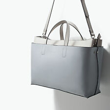 Last one!! ZARA LARG EOFFICE CITY BAG WITH BODY STRAP COMBINED SHOULDER HAND BAG