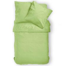 Bettwäsche Linon (sommer) Renforce 2tlg.135x200 80x80 Uni grün