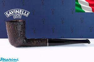 Pfeife pipes pipe Savinelli Tre dritta rusticata 401 senza filtro made in italy