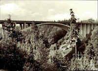 BRÜCKEN Motiv AK Teufelstal-Brücke bei Hermsdorf Kr. Stadtroda DDR Postkarte