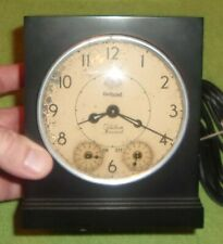 Antique Hotpoint Clock 3T20 Art Deco Decor Display Tested Black